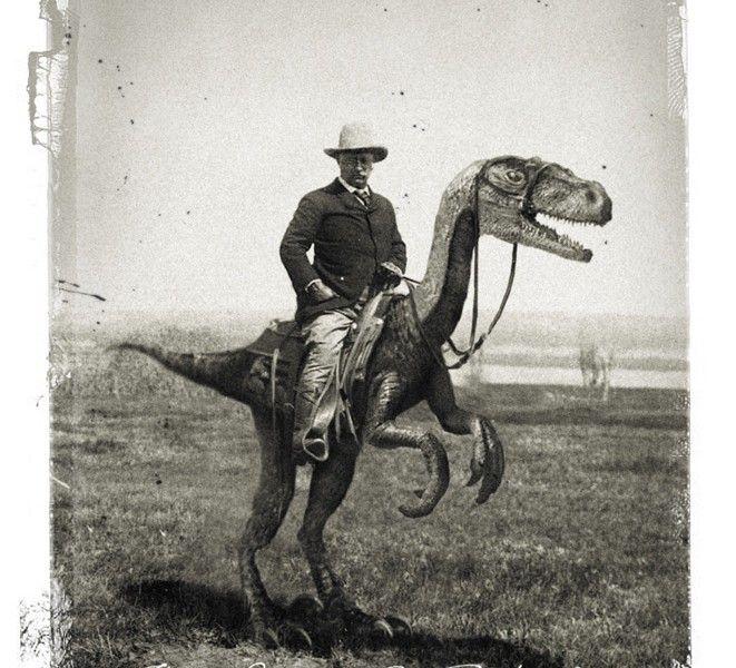 TR riding Velociraptor.jpg