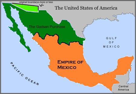 How Much Of Mexico Could The US Have Plausibly Taken Page - Us map after the gadsen purchase