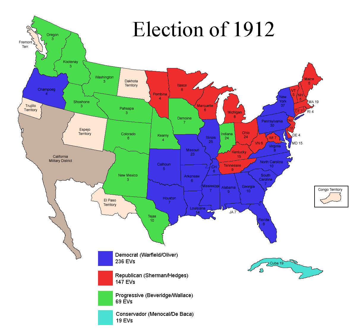 the election of 1912 In the election of 1912, the election involved a variety of political parties with  some overlapping and some clashing goals jane addams had an.