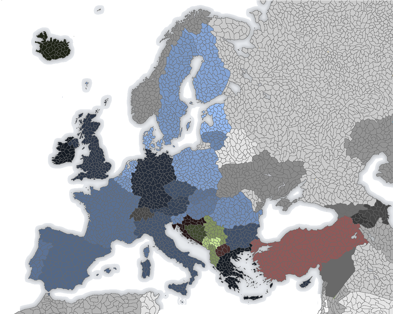 Map Of Europe With Provinces.A Blank Map Of Europe Alternate History Discussion