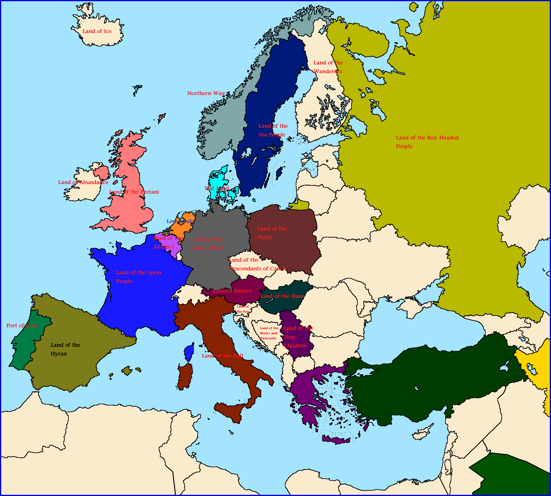What If All Place Names Were Translated Western Europe