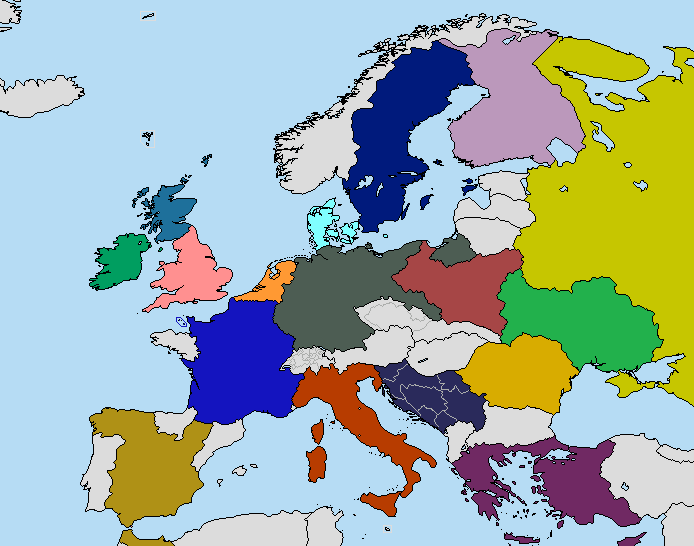 Ideal world map page 12 alternate history discussion major changes united ireland independent scotlandbrittanybasque countrycatalonia germany gets most of the area that was culturally german up to the gumiabroncs Image collections