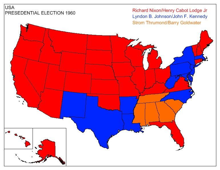 Election map thread page 2 alternate history discussion us election 1960g gumiabroncs Gallery