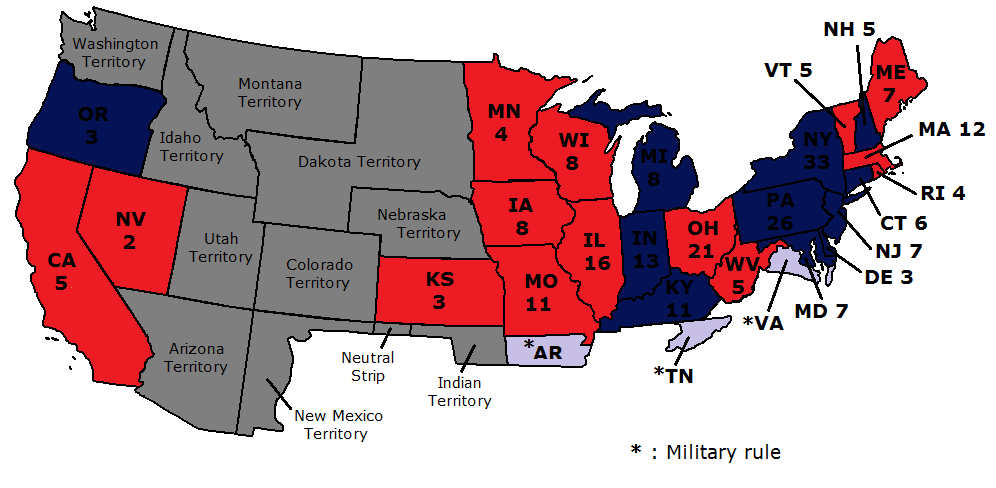 Meanwhile In The Usa 1864 Alternate History Discussion - Us-map-1864