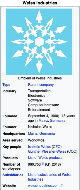 WeissIndustriesWikibox.png