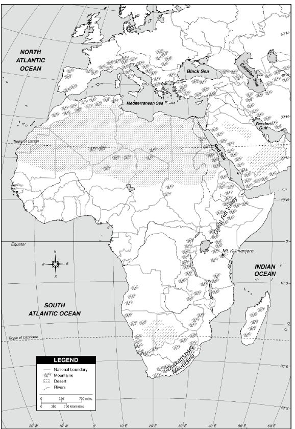 A Blank Map Thread Page Alternate History Discussion - Blank physical map of africa