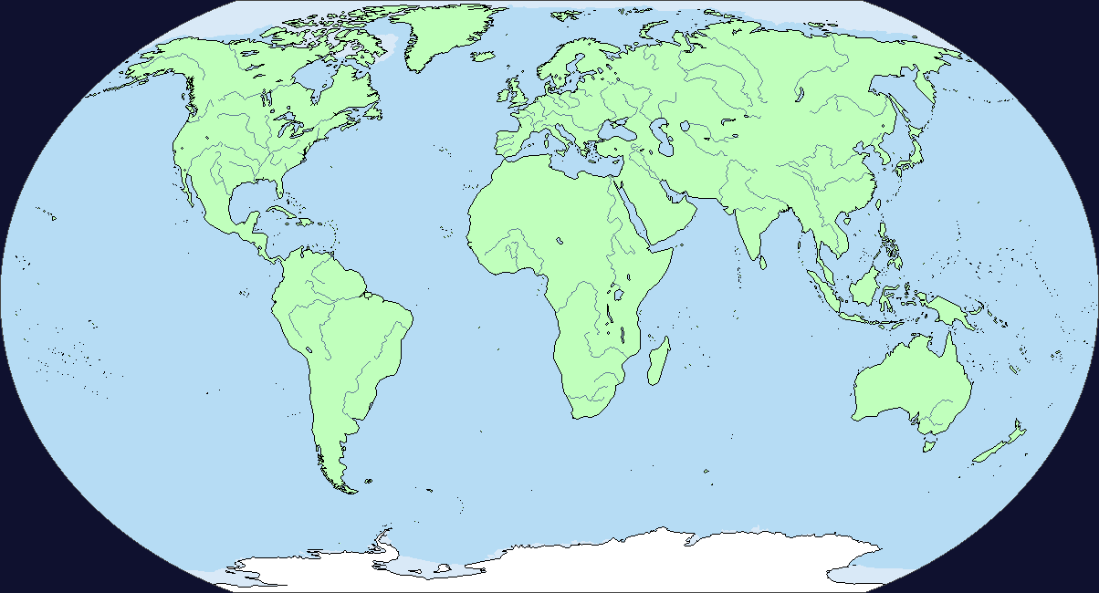 Map Of The World No Borders.Blank Map Of The World With Borders