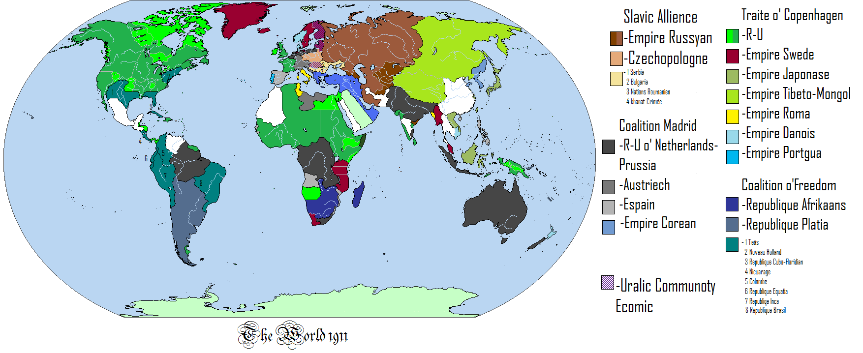 Map thread vi page 544 alternate history discussion this is a map of the world at the height of imperialism after a long an complex history gumiabroncs Gallery