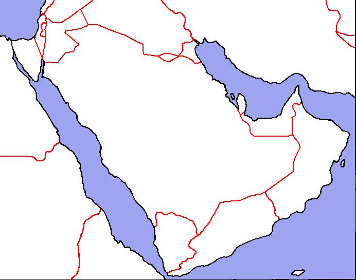 Arabian Peninsula Blank Map blank_map_directory:middle_east [alternatehistory.wiki]