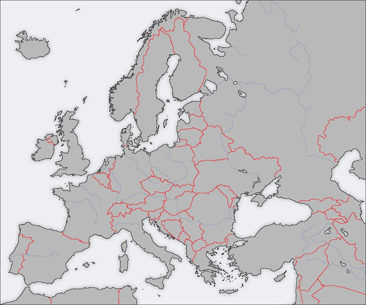 Blank Map Of Europe With Borders.Blank Map Directory All Of Europe 2 Alternatehistory Com Wiki