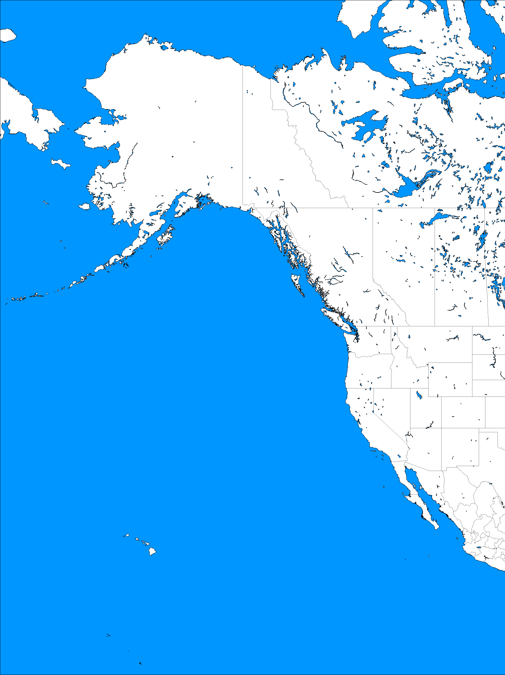Western North America Map.Blank Map Directory All Of North America Alternatehistory Com Wiki