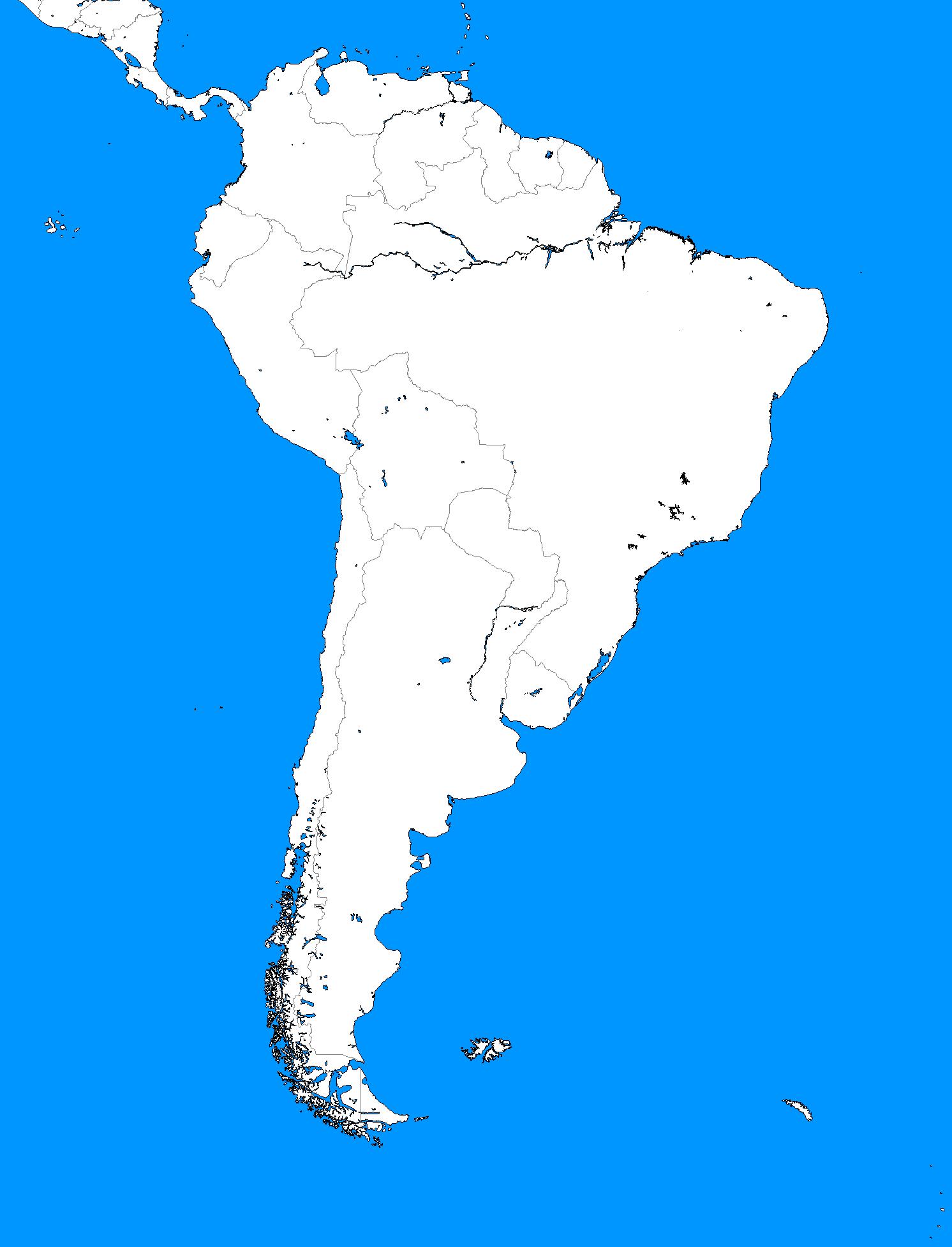 Blankmapdirectorysouthamerica Alternatehistorycom Wiki - South america map outline