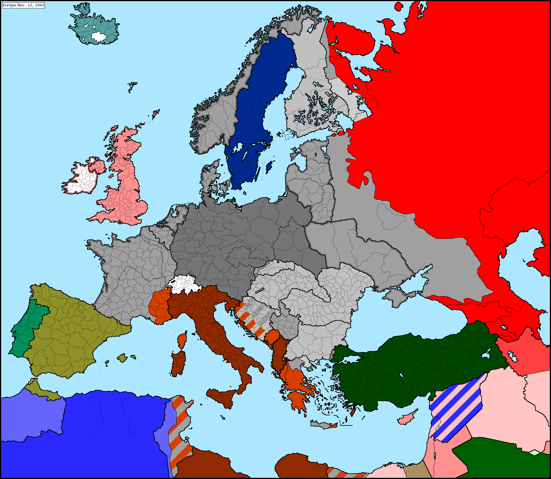 Resources europe wwii map series wiki for Europe in november