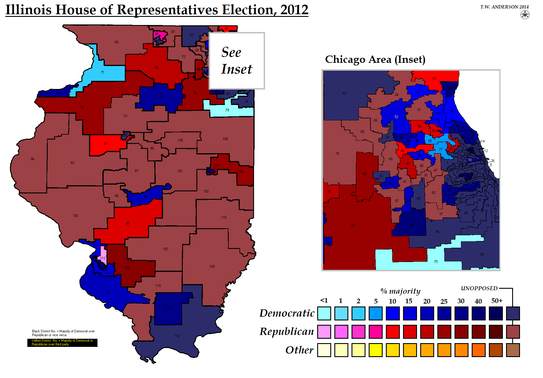 Resourcesusstateelectionmaps Alternatehistorycom Wiki - Us house of representatives illinois district map