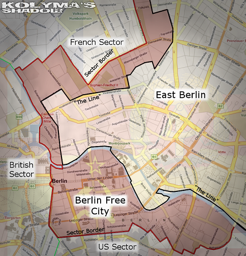 The centre of Berlin after the Crisis of 1961.