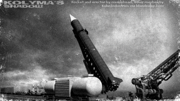 The first R-6 missile is made ready at Tyuratam.