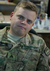Matt in 2011, during his time in the army.