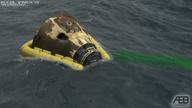 Columbia-6 splashdown